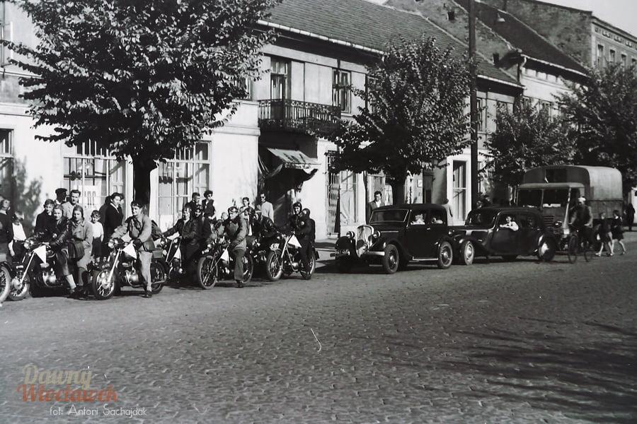 ul. 3 maja we Włocławku - motocykliści