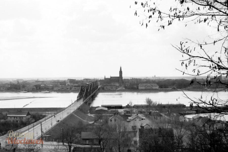 Dawny Włocławek - lewa strona miasta widziana z Zawiśla