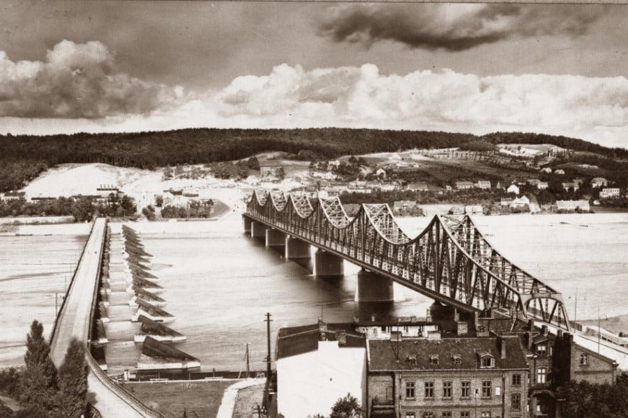 Dawny Włocławek - Widok na Zawiśle 2 mosty