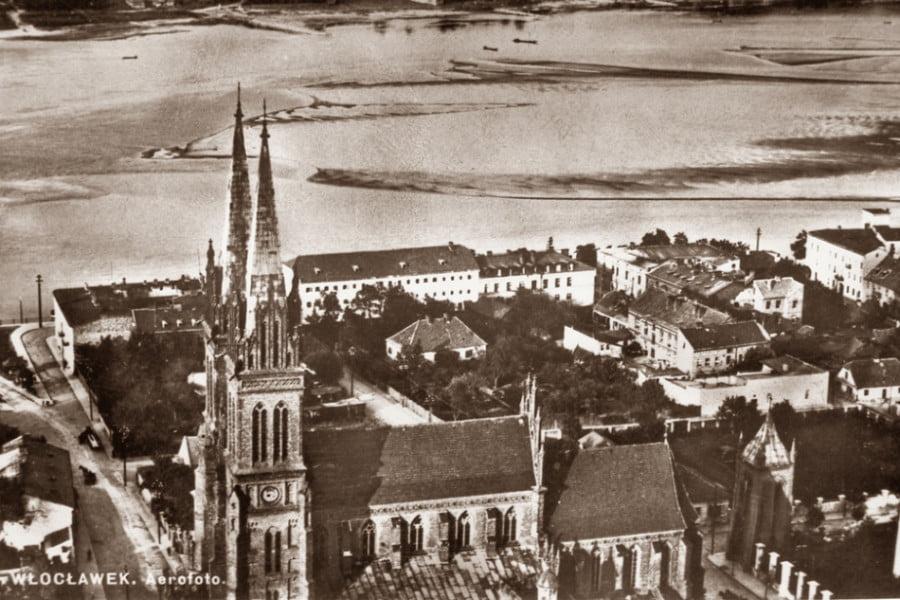 Dawny Włocławek - Z lotu ptaka katedra