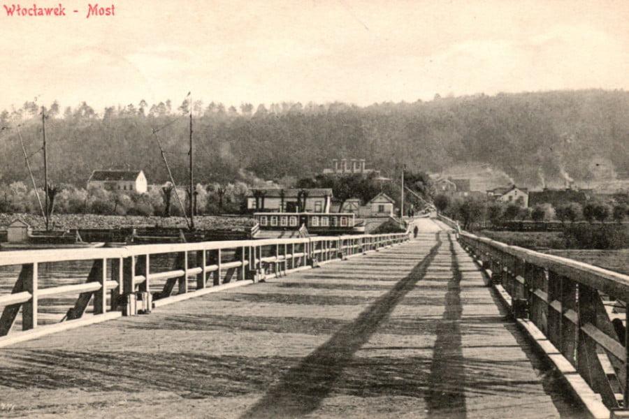 Dawny Włocławek - widok szpetala dolnego z mostu