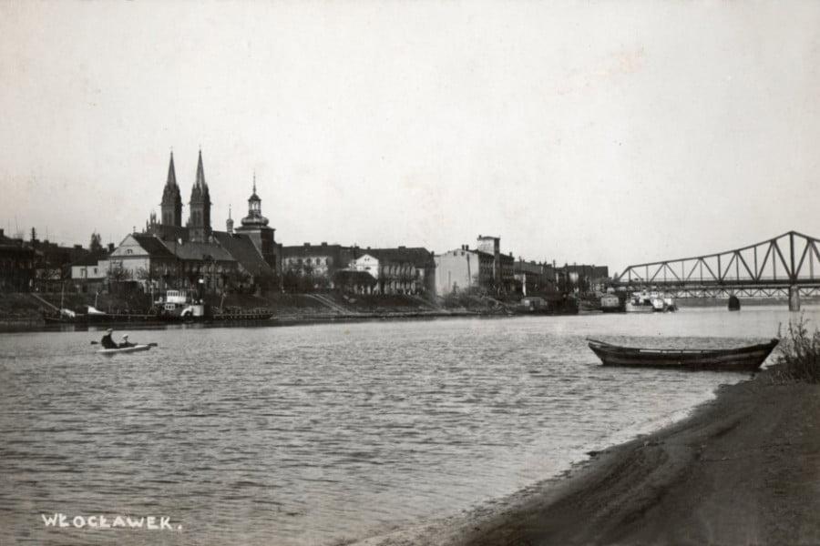 Dawny Włocławek - widok z wyspy wislanej