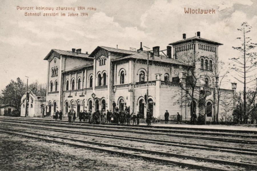 Dawny Włocławek - zburzony dworzec PKP 1914 r.